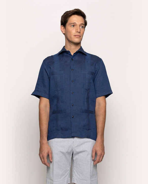 GUAYABERA SHORT-SLEEVES SHIRT WITH 4 POCKETS