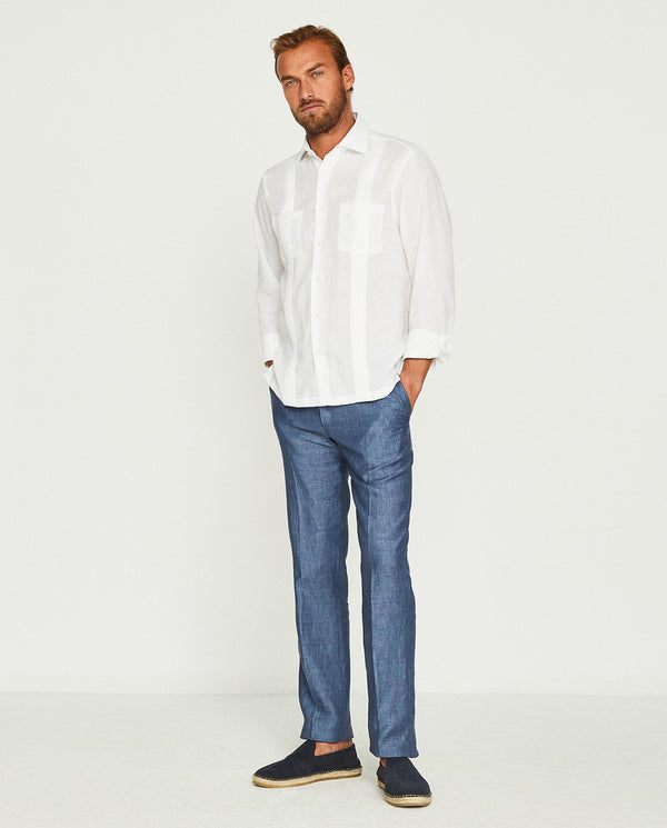 GUAYAMISA LINEN SHIRT WITH 2 POCKETS