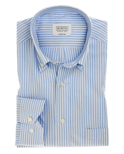 CAMISA CASUAL RAYAS OXFORD AZUL by MIRTO