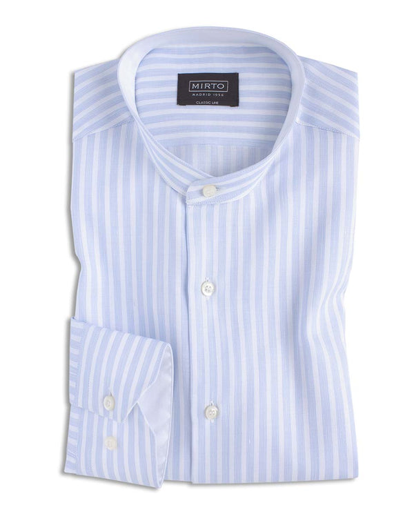 CAMISA CASUAL RAYAS CUELLO MAO by MIRTO