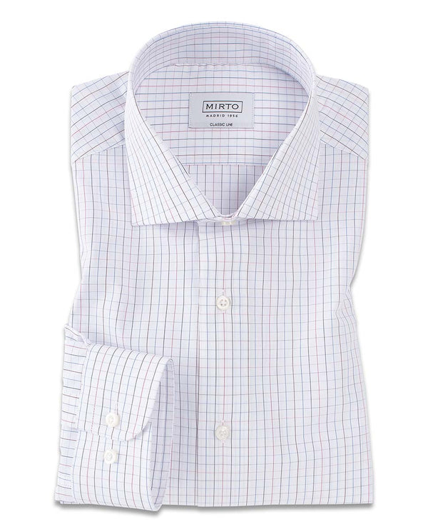 CHECKED COTTON DRESS SHIRT by MIRTO