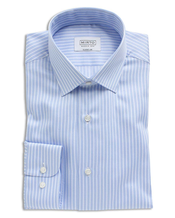 STRIPED COTTON DRESS SHIRT by MIRTO