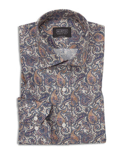 CASUAL PRINTED COTTON SHIRT by MIRTO