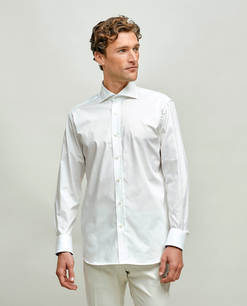 CUT-AWAY COLLAR TAILORED FIT SHIRT by MIRTO