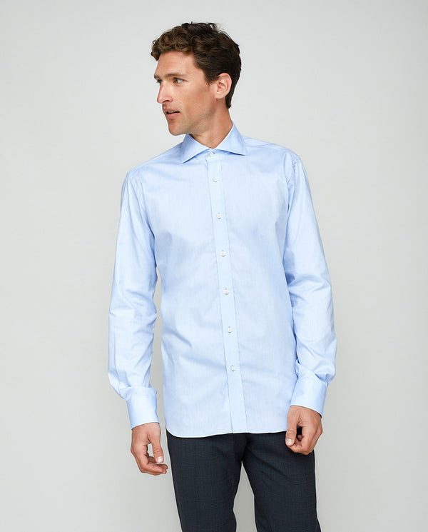 CUT-AWAY COLLAR TAILORED FIT SHIRT