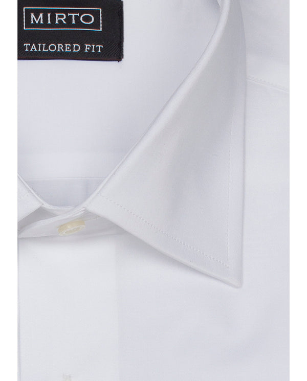 CLASSIC COLLAR WHITE TAILORED FIT DRESS SHIRT by M