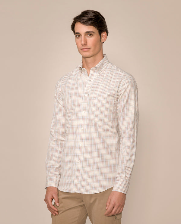 BUTTON DOWN CHECKED CASUAL SHIRT by MIRTO
