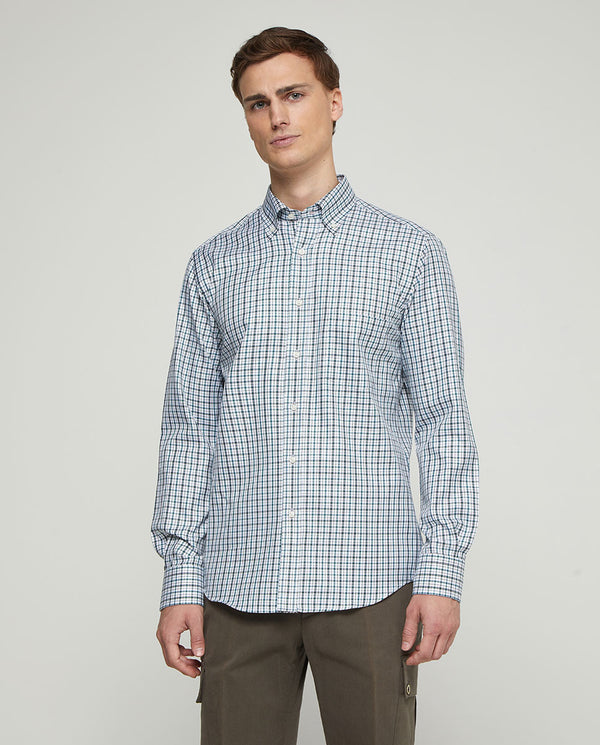 CHECKED CASUAL COTTON SHIRT