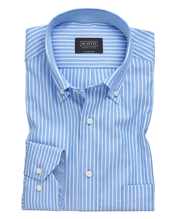 CAMISA CASUAL MANGA LARGA OXFORD PINPOINT by MIRTO