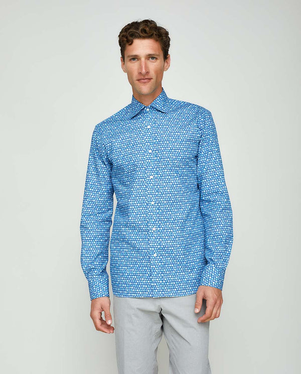 CASUAL PRINTED COTTON SHIRT