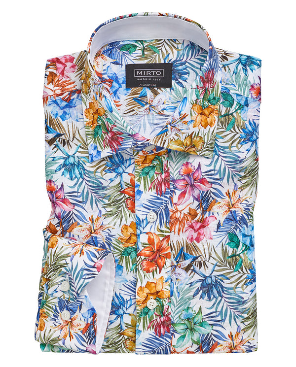CAMISA CASUAL ESTAMPADA MANGA LARGA by MIRTO