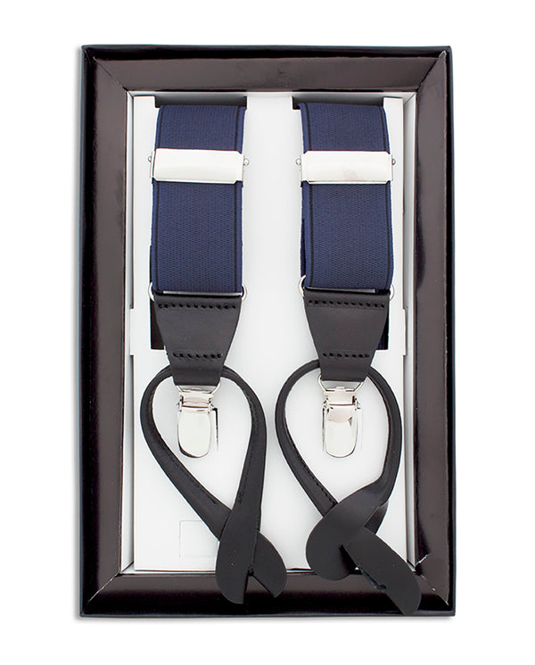 NAVY CLIP & BUTTON BRACES