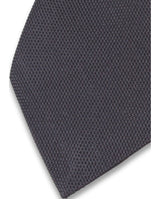 7,5 CM. BLACK JAQUARD SILK TIE by MIRTO
