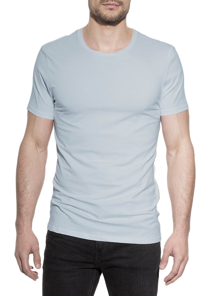 CREW-NECK FOG BLUE by MIRTO