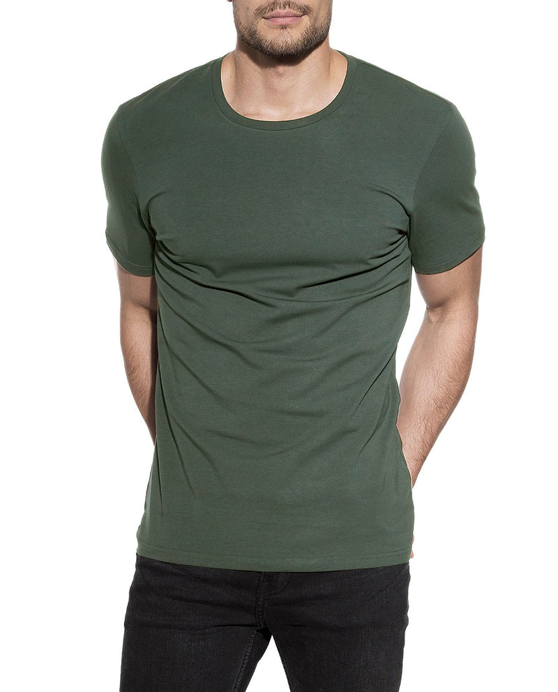 CREW NECK ARMY GREEN