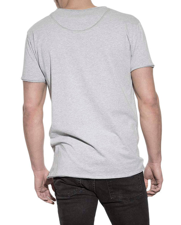 CREW-NECK RELAXED GREY MELANGE by MIRTO
