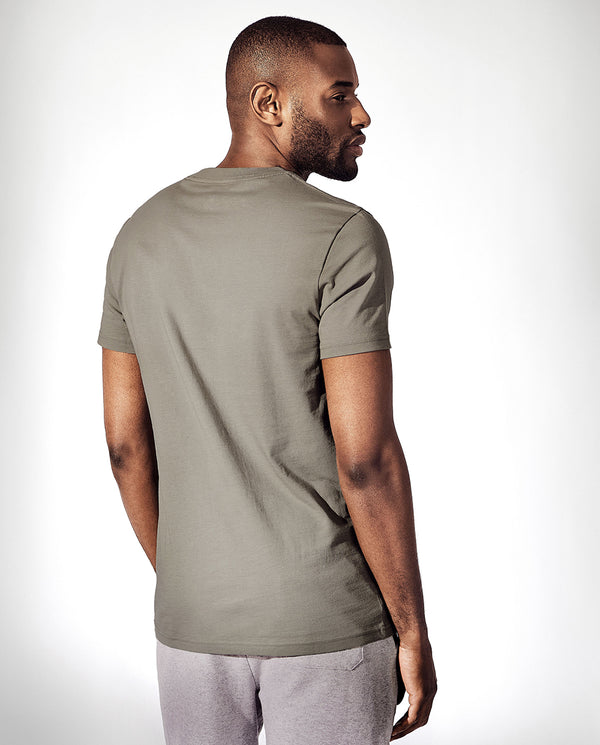 CREW-NECK DUSTY GREEN