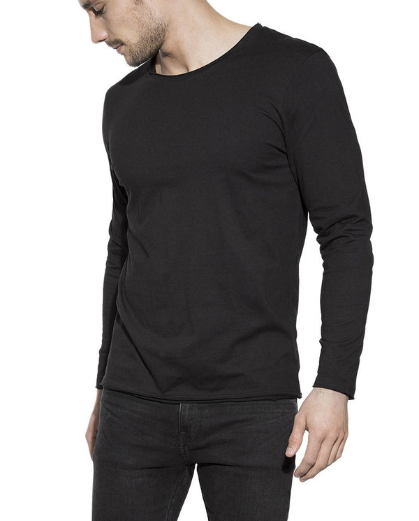 LONG-SLEEVE RELAXED BLACK by MIRTO