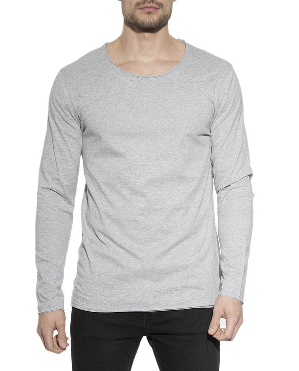LONG-SLEEVE RELAXED GREY MELANGE by MIRTO