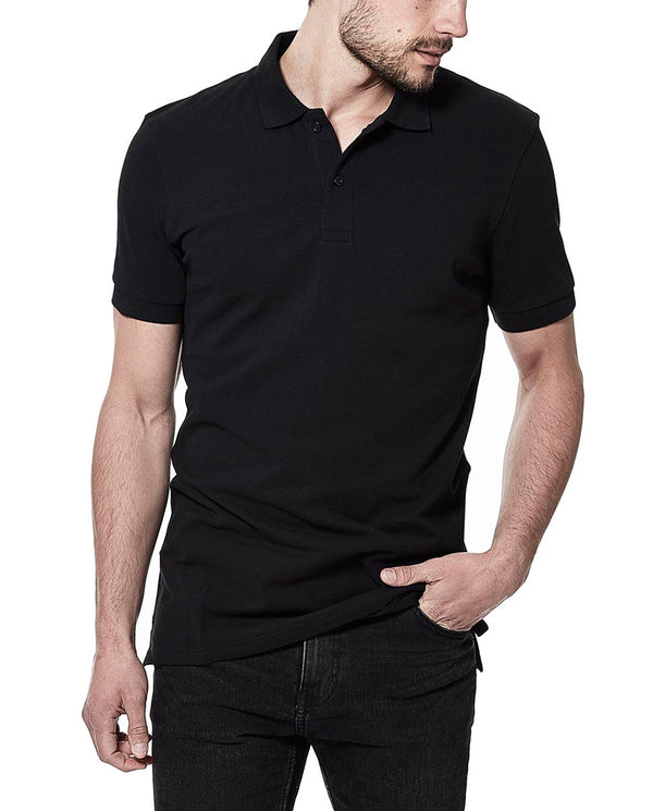 PIQUE POLO BLACK by MIRTO