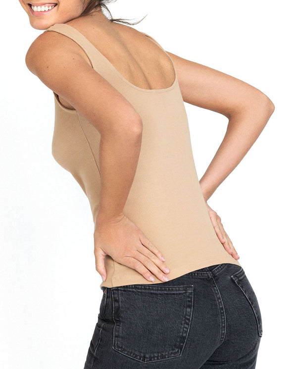TANK RIBBED BEIGE