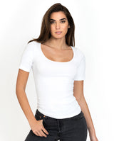 SB T-SHIRT RIBBED WHITE by MIRTO