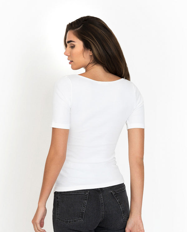 T-SHIRT RIBBED WHITE