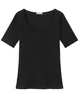 SB T-SHIRT RIBBED BLACK by MIRTO