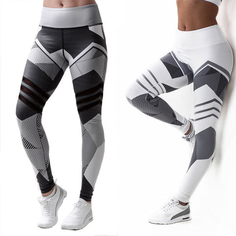 High Waist Fitness Leggings 3D Digital Print