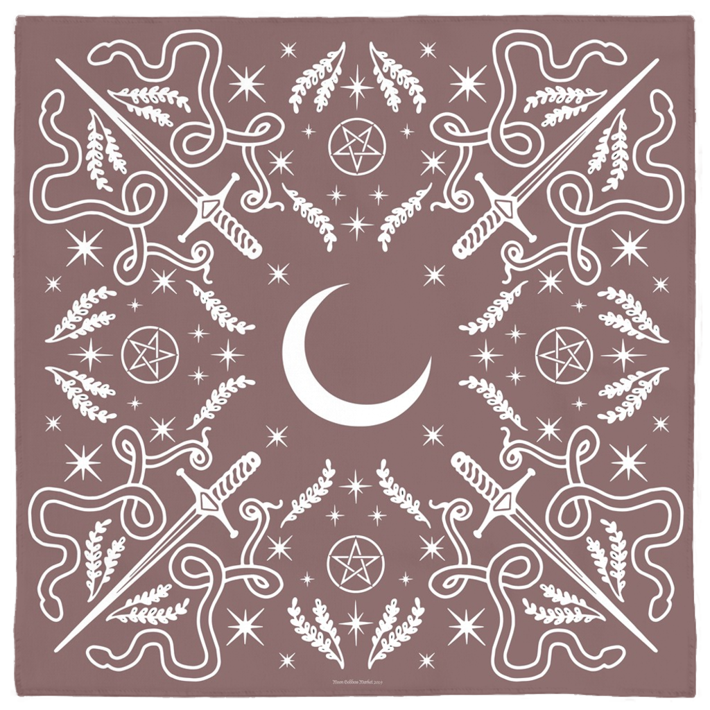 Serpent Moon Bandana in Mauve - Moon Goddess Market