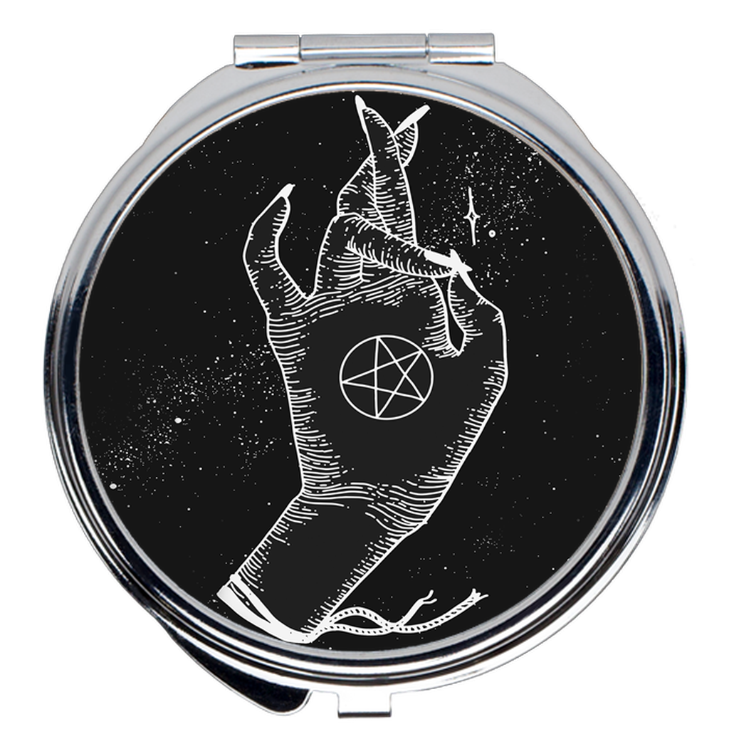 Pentacle Protector Compact Mirrors - Moon Goddess Market