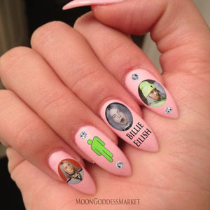 Billie Eilish Nail Decals Waterslide - Moon Goddess Market