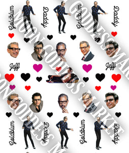 Jeff Goldblum Daddy Heart Nail Decals - Moon Goddess Market