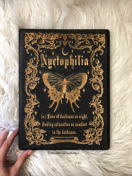 Nyctophilia Wooden Plaque - Moon Goddess Market
