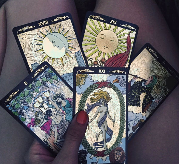 Golden Tarot Deck - Moon Goddess Market