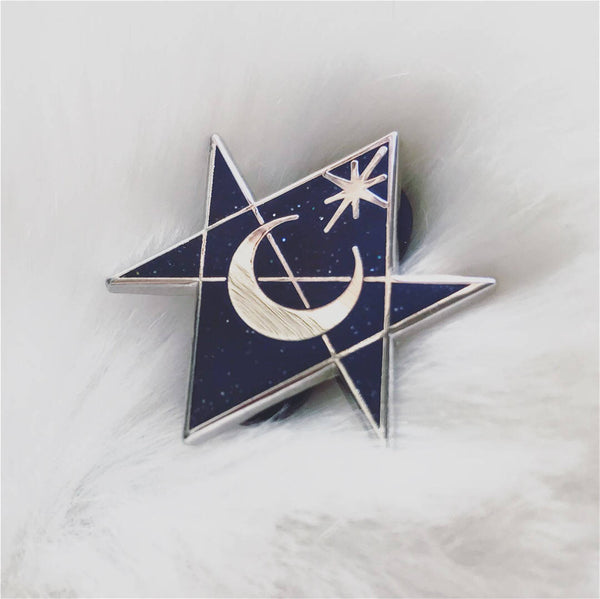 Unicursal Hexagram Lapel Pin | Occult | WITCH | Ouija | Pagan | Planchette - Moon Goddess Market