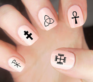 30 Occult Symbolism Nail Decals | Water Slide | Easy & Fun - Moon Goddess Market