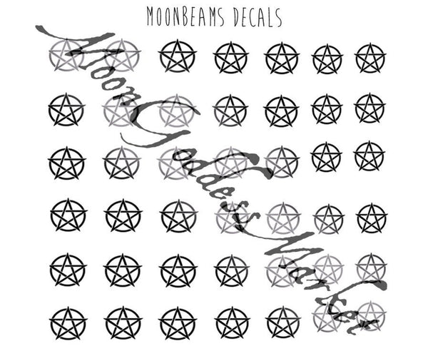 Pentagram Nail Decals - Moon Goddess Market