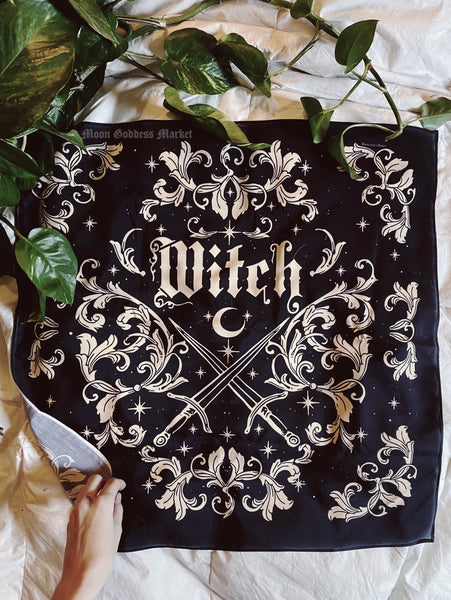 Witch Altar Cloth | Wall Hangings | Bandanas - Moon Goddess Market