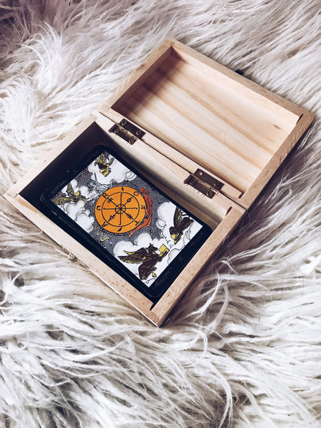 Tarot Wooden Trinket Box - Moon Goddess Market