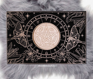 Mirrored Astrology Board - Moon Goddess Market