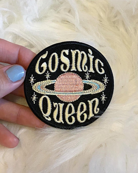 "Cosmic Queen Moon Child Moon Goddess Patch! 2"" Iron on patch"