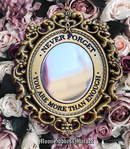 Gold Never Forget You Are More Than Enough Mirror Lapel Pin - Moon Goddess Market