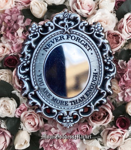 Silver Never Forget You Are More Than Enough Mirror Lapel Pin - Moon Goddess Market