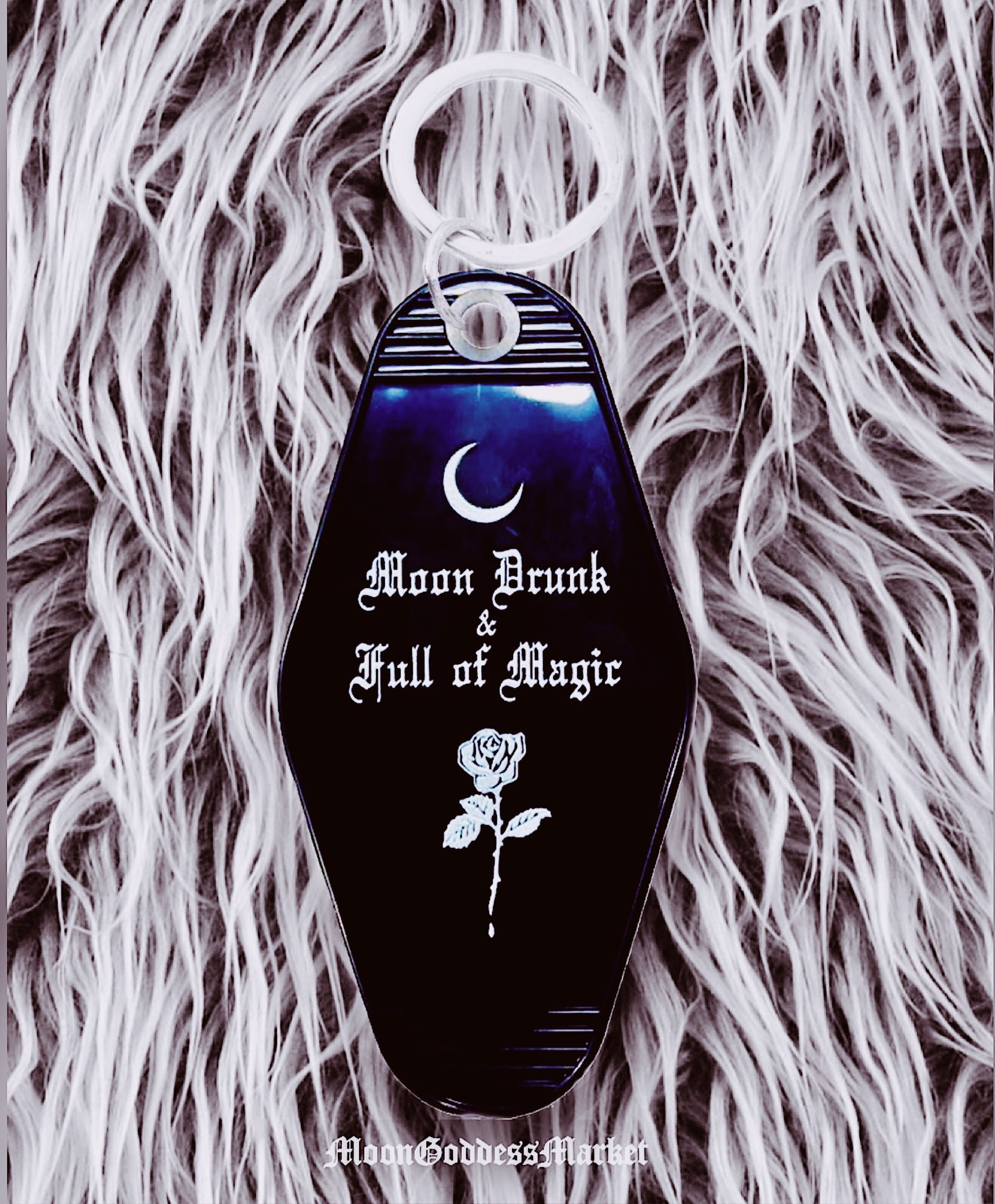 PREORDER Moon drunk and full of magic Keychain - Moon Goddess Market