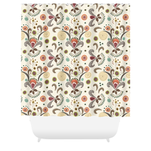 Wired Flower Pattern Shower Curtain