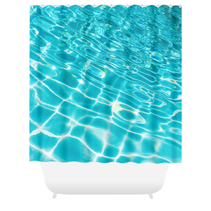 Pool Ripples Shower Curtain
