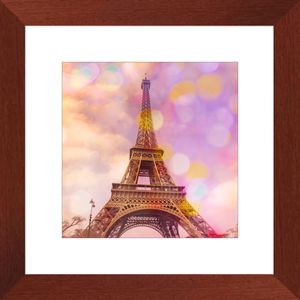 Eiffel Tower Sunset Framed Art Print
