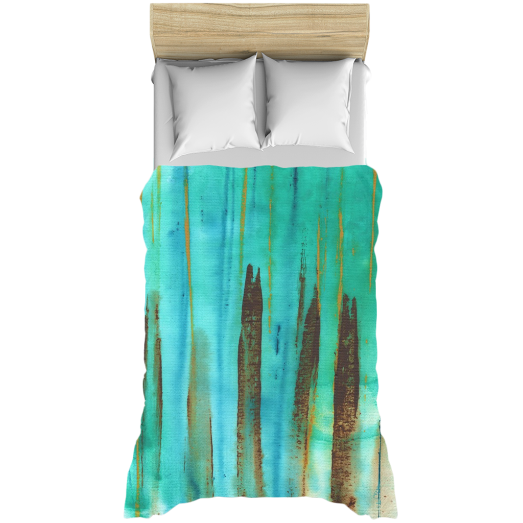 Beach Fence Duvet Cover