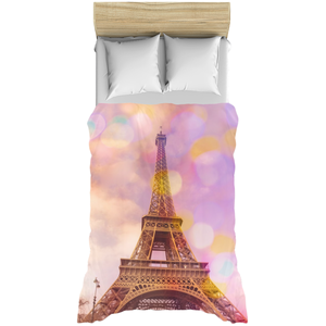 Eiffel Tower Sunset Duvet Cover